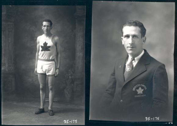 "J. Roy Oliver, ""The Pride of Pictou County"", Canadian Road Running Champion, took 6th place for the Canadian team in the 6 mile at the British Empire Games in London, 1934."