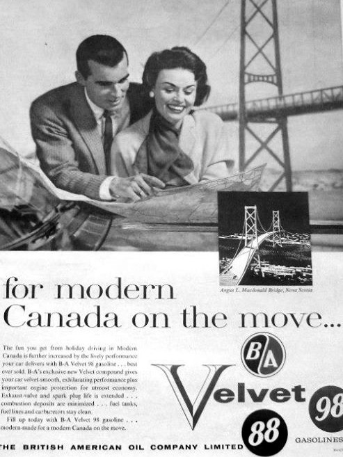 1950s Ad featuring the Angus L. MacDonald Bridge