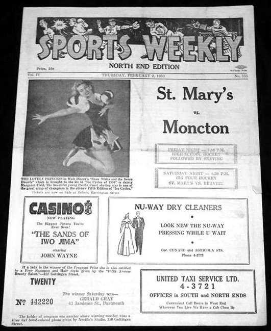 Halifax Sports Weekly, North End Edition, 1950