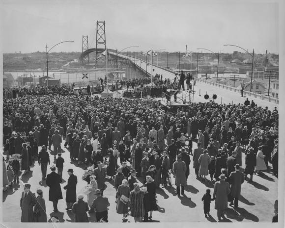 Macdonald Bridge opening day, April 2, 1955