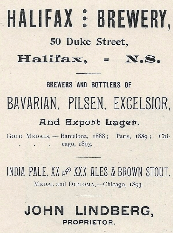Brewery Ad ca 1894