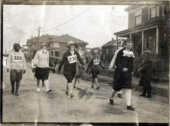 Women's road race in Halifax, 1920s