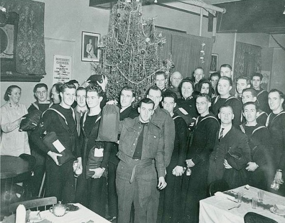 Christmas party at Salvation Army Red Shield Hostel in Halifax, 1941
