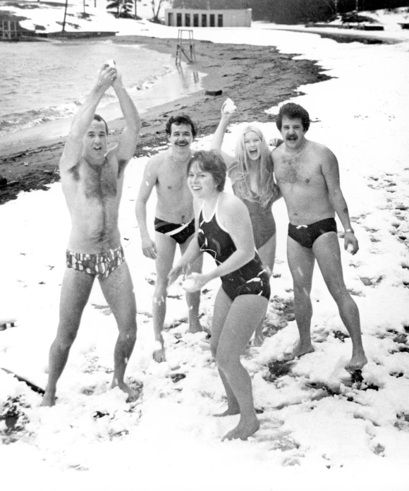 Polar Bear Swim on New Year's Day, Halifax, 1986