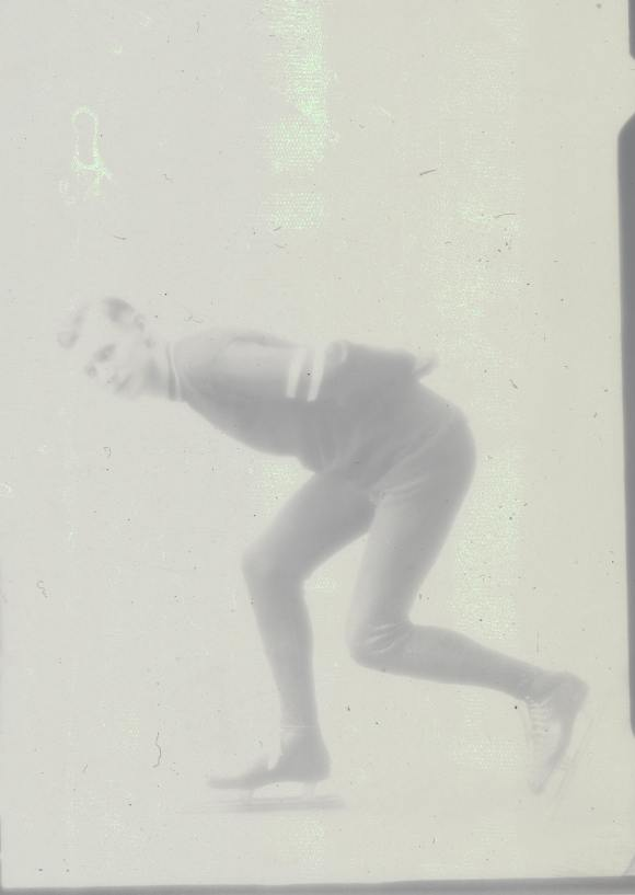 Skater Gordon Hamilton photographed for the Herald in 1928
