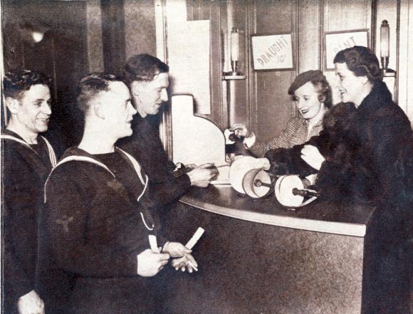 Sailors at the Halifax Ajax Club on Tobin Street, 1941