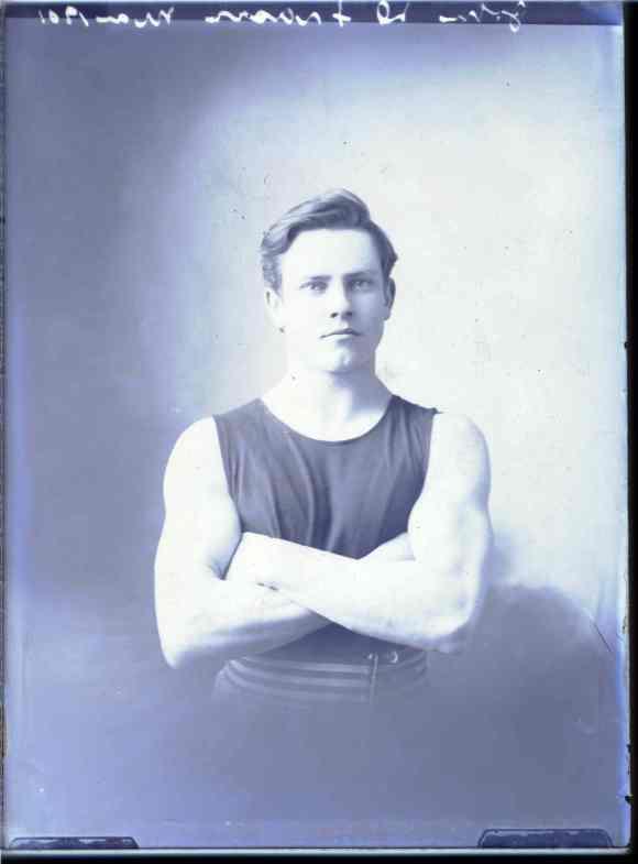 Team portrait of John D. Fraser in Antigonish, 1901