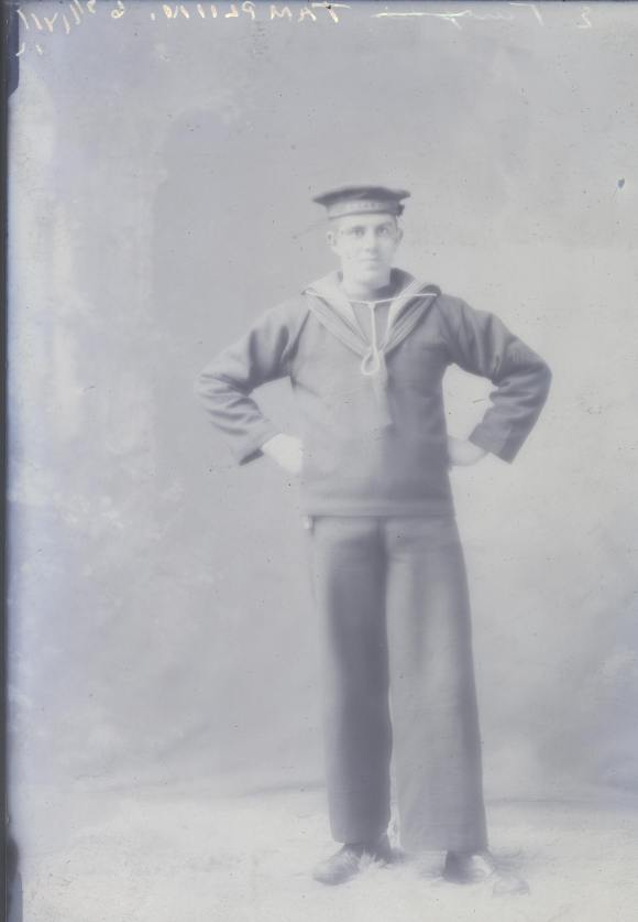 Portrait of E. Tamplin from the HMCS Niobe in Halifax, 1918