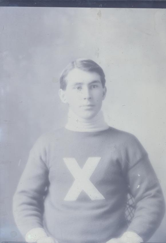 Unknown St. Francis Xavier University athlete, ca 1870