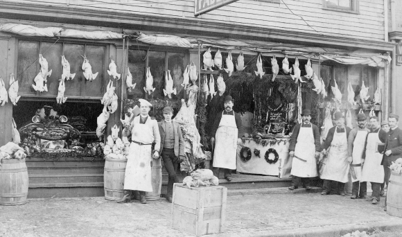 Faders Bros. Market on Bedford Row in Halifax ca 1885