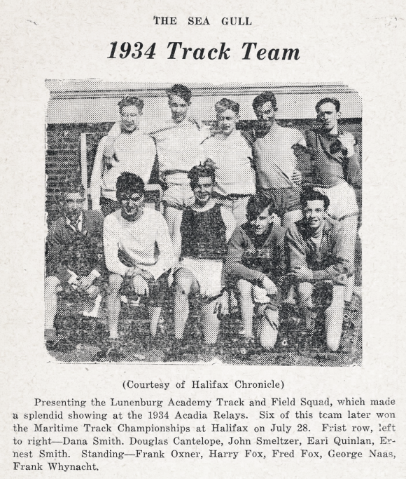 1934 Lunenburg Track Team Halifax Running Crew