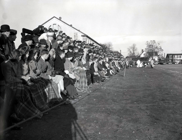 Dalhousie fans watching a football match, 1941