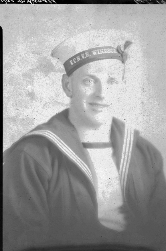 Portrait of James McDonald of the R. C. N. V. R. Windsor photographed in Halifax, 1941
