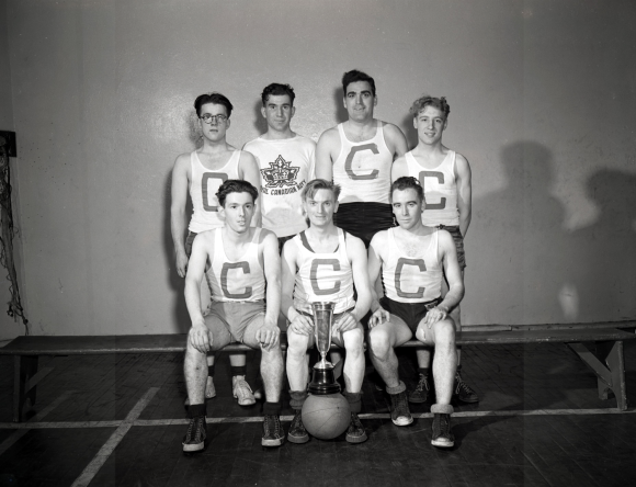 Royal Canadian Navy basketball team, Halifax ca 1942