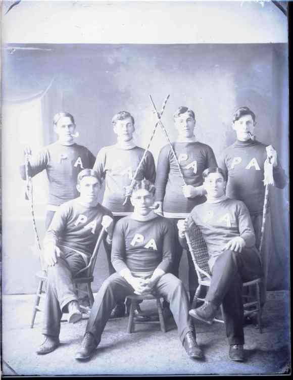 The 'P. A. Sports Team' photographed in Halifax, 1909