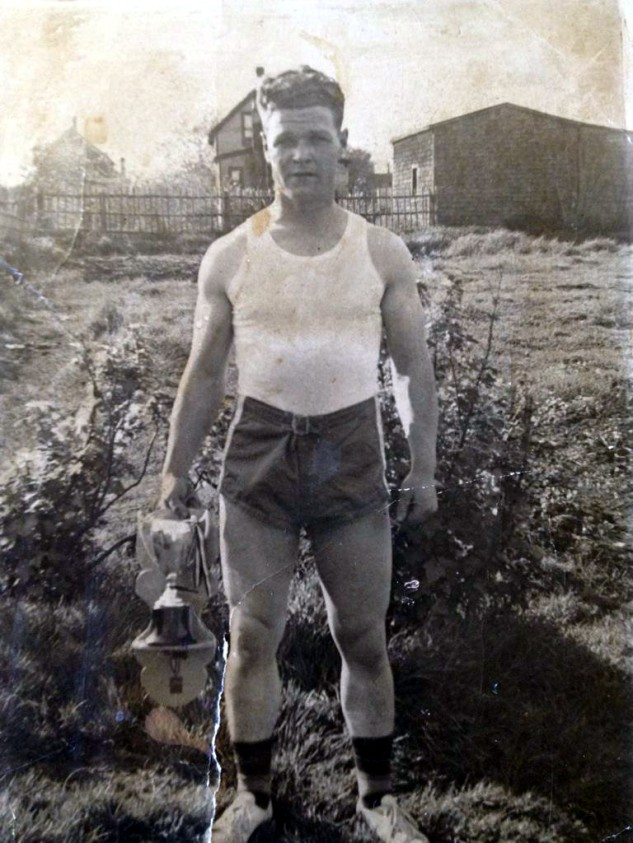 It runs in the family. NEBR crewmember Repo's grandfather, Elderick Kempt, after winning the Slavin Drug Store 10 mile road race in 1945 in Nova Scotia.