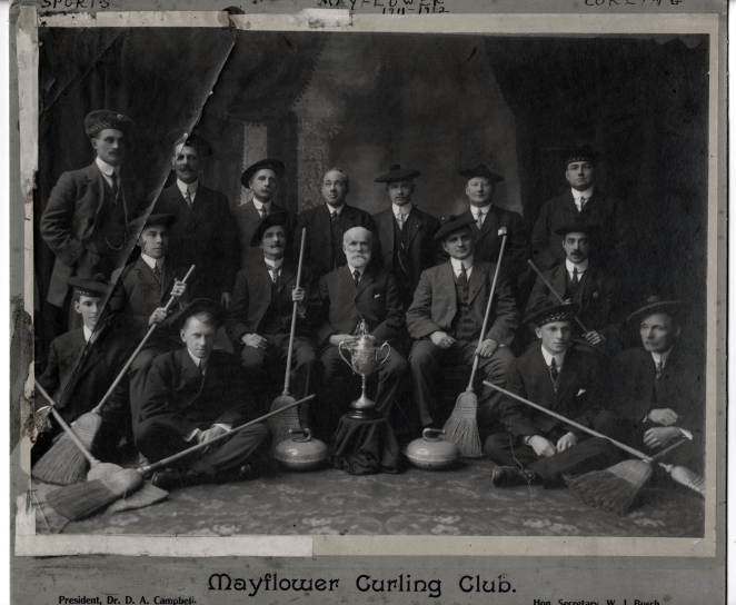 New money and swag stepping out at the Mayflower Curling Club in 1912