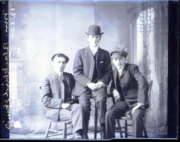 Mr. Blackbird & friends photographed in Antigonish, 1905