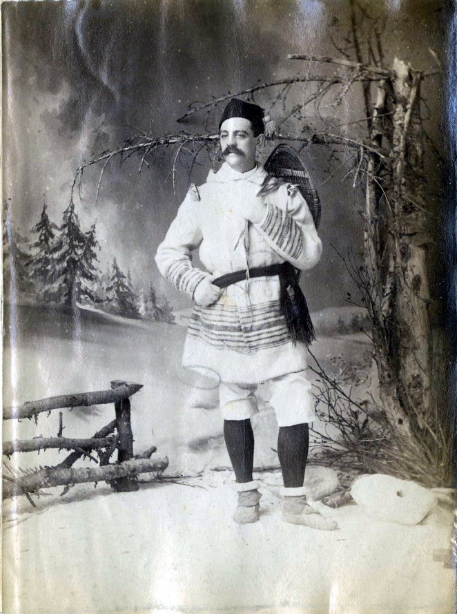 Mr. Mitchell, member of the Halifax Red Cap Snowshoe Club and rocker of a badass winter 'stache ca 1890