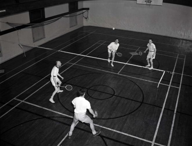 Badminton badassery at the Halifax YMCA, 1941
